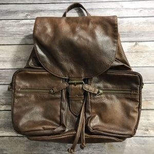 Claire's Brown Faux Leather Backpack Purse